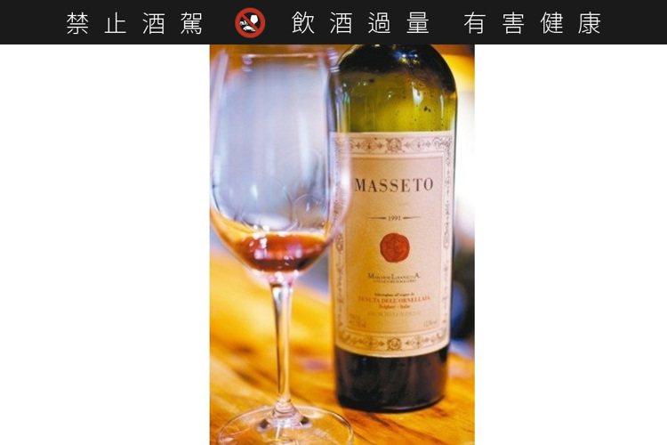 義大利名酒Masseto平均價格也都在600美元以上。 圖/聶汎勳※ 提醒您:禁...