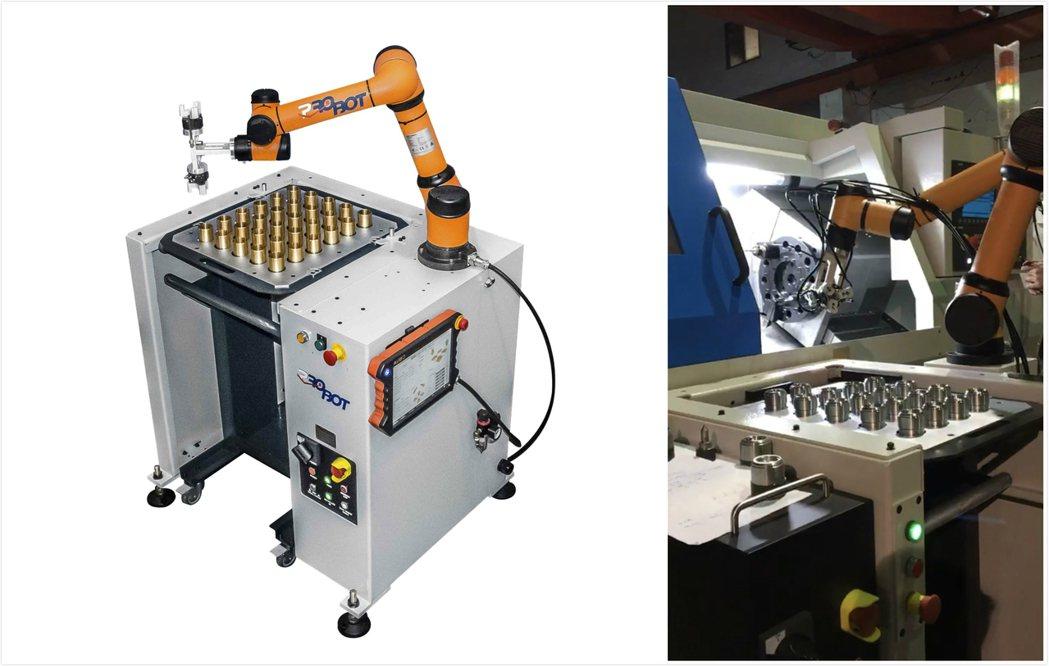 「Pro Loader」是複合式供料系統結合遨博AUBO機器人及輕便型供料臺車,...