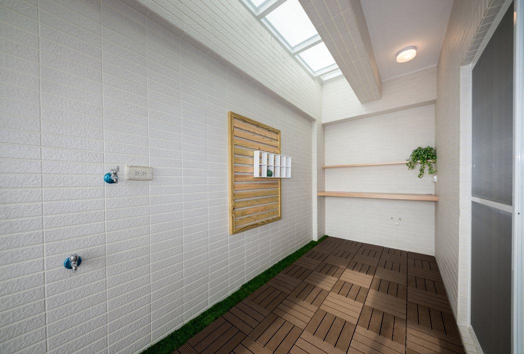 四樓家事空間實景拍攝。圖片提供/宇根建設