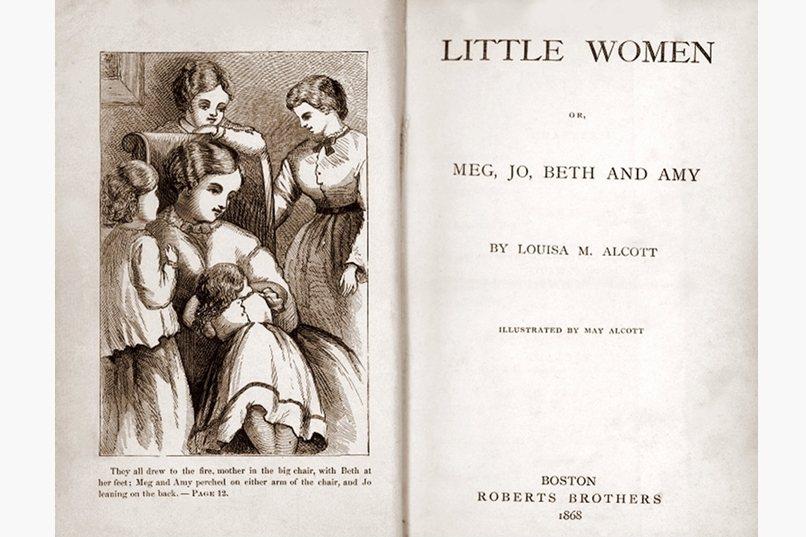 1868年由美國作家奧爾柯特出版的半自傳小說《小婦人》原版書影。 圖/作者提供
