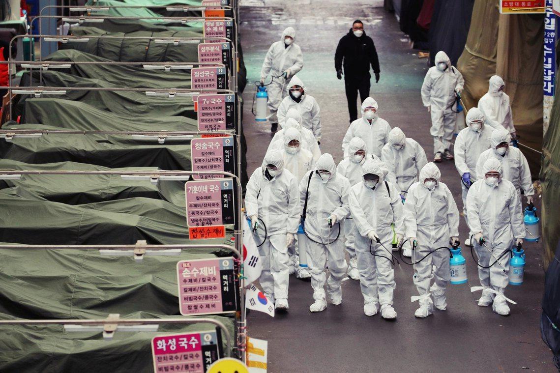 南韓武漢肺炎疫情預計未來24小時,累積病例就將破千。 圖/法新社