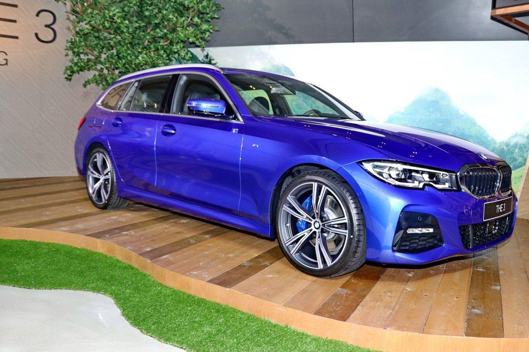 BMW 3系列Touring正式在台亮相。 記者陳威任/攝影