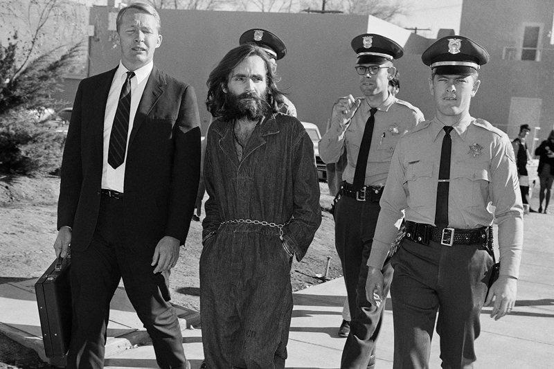 圖為美國加州邪教「曼森家族」之領袖查爾斯曼森,攝於1969年。 圖/美聯社