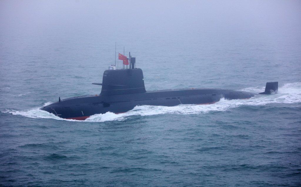 解放軍常規潛艦。 圖/中新社