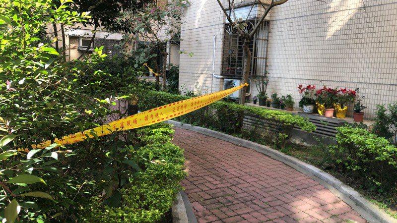 一名就讀國中的15歲少女,被發現墜落在台北市自家社區中庭,頭顱破裂死亡。記者李奕昕/翻攝