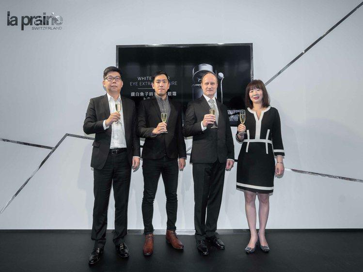 La Prairie萊珀妮台灣區總經理Anderson(左起)、台灣當代影像藝術...