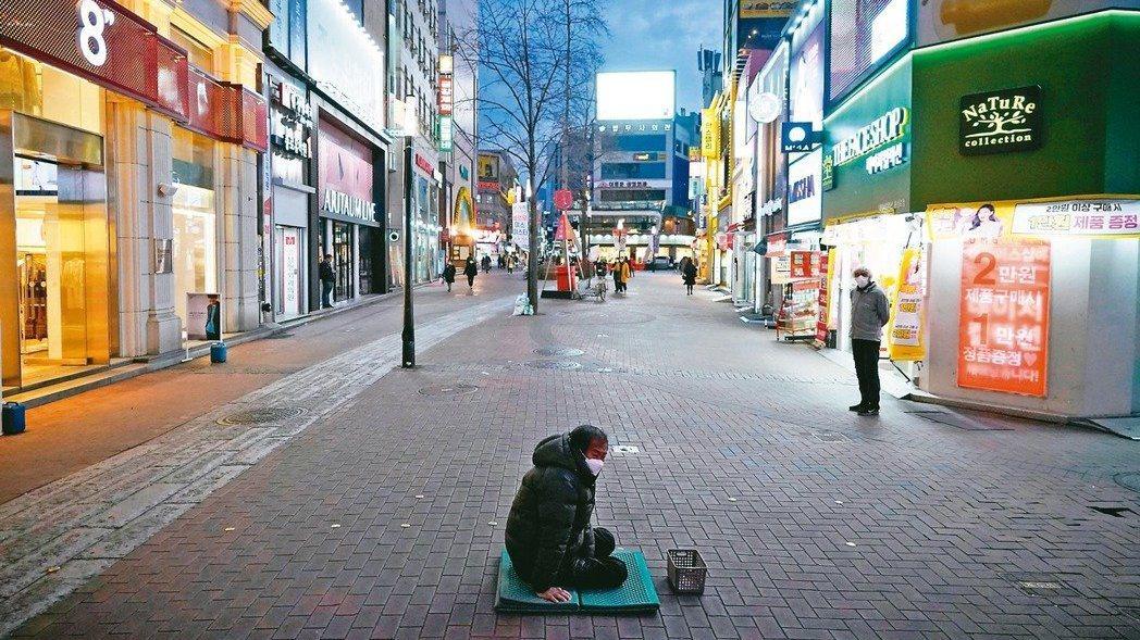南韓大邱街頭。 路透