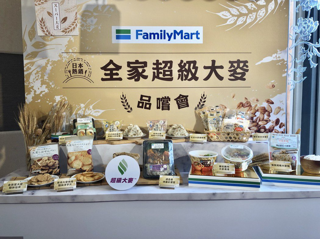 全家2月26日起總共推出10款超級大麥商品。全家/提供