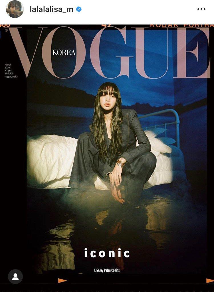 Lisa配戴寶格麗最新B.zero1 Rock系列珠寶登上韓國時尚雜誌封面。圖/...