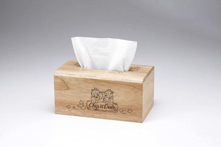 HOLA迪士尼系列櫻花季木質面紙盒-奇奇蒂蒂款,原價599元、特價499元,需預...