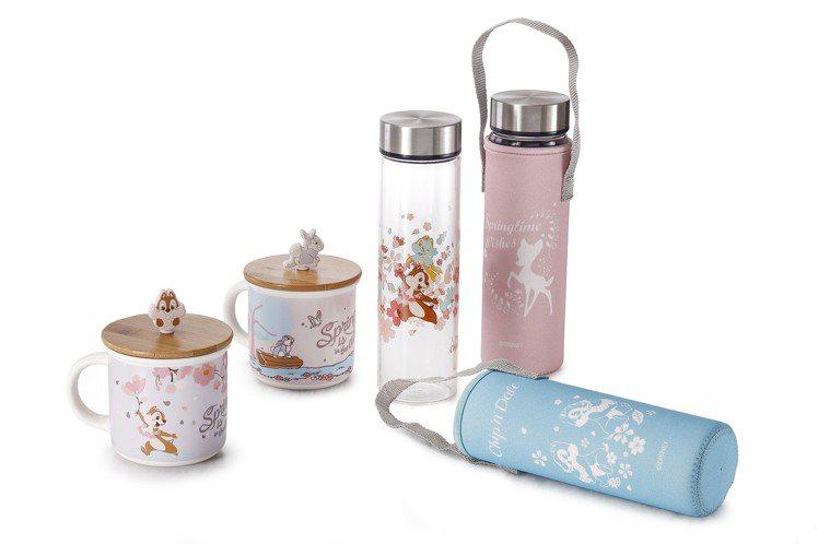 HOLA迪士尼系列櫻花季單層玻璃水瓶附袋500ml,原價399元、特價299元,...