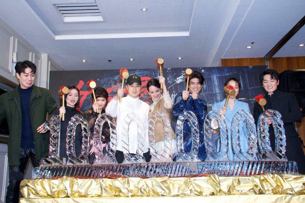 謝毅宏(左起)、詹宛儒、嚴正嵐、導演奚岳隆、孟耿如、林哲熹、張寗以及葛丞出席「女...