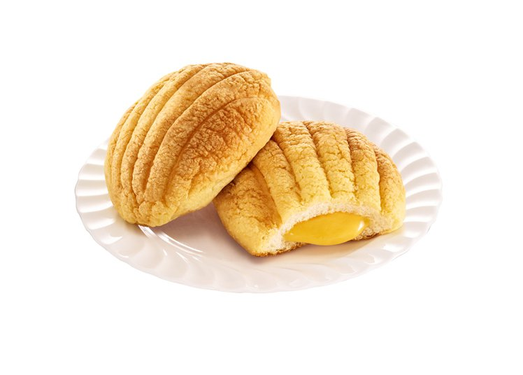 7-ELEVEN「貝殼流沙麵包」,售價35元。圖/7-ELEVEN提供