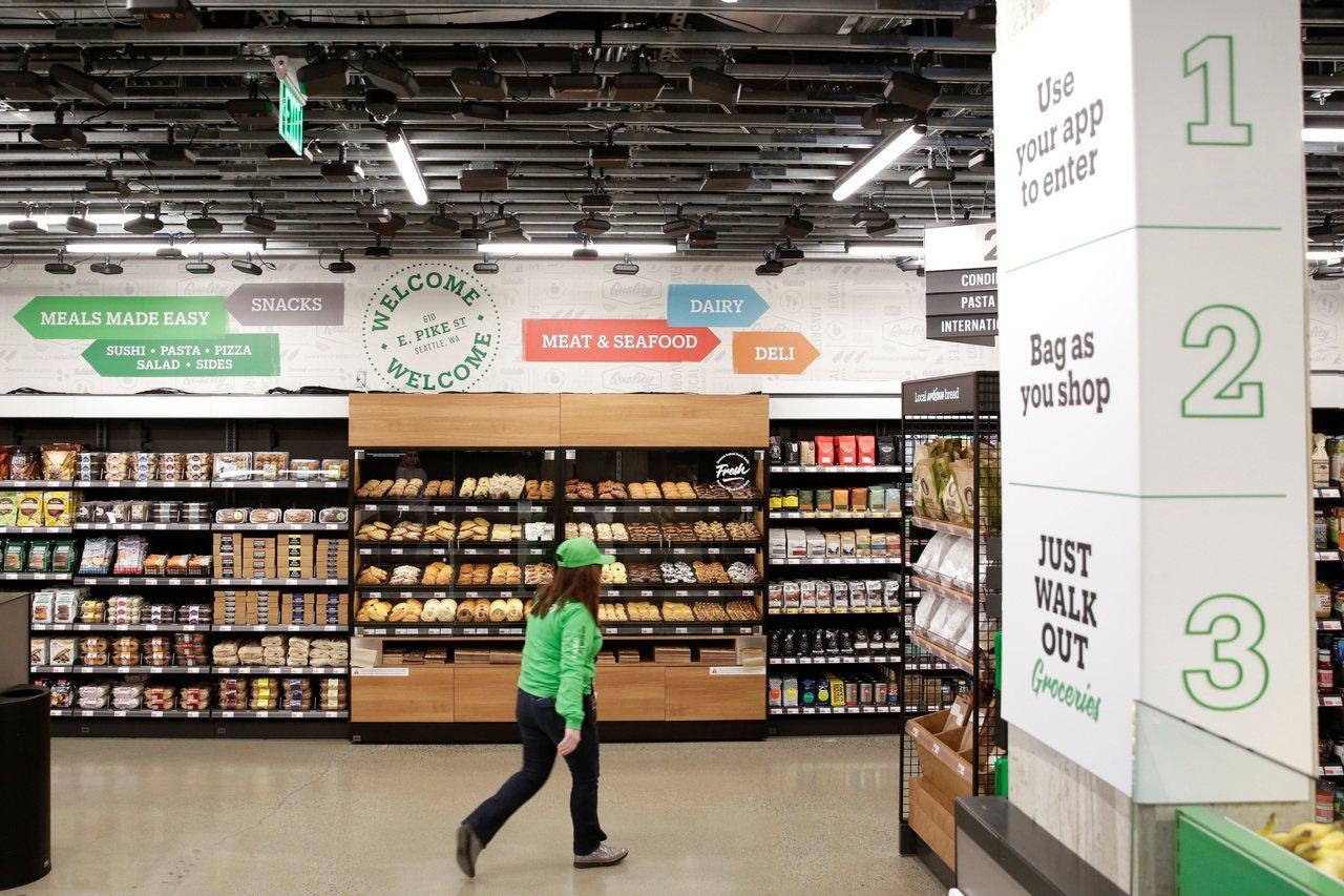 「亞馬遜開無人生鮮超市」的圖片搜尋結果