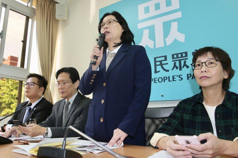 民眾黨立院黨團總召賴香伶(右二)。 聯合報系資料照/記者林伯東攝影