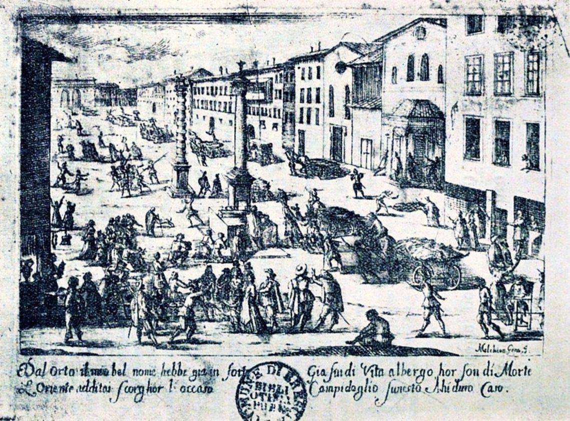 義大利畫家Melchiorre Gherardini筆下的1630年「義大利大瘟...