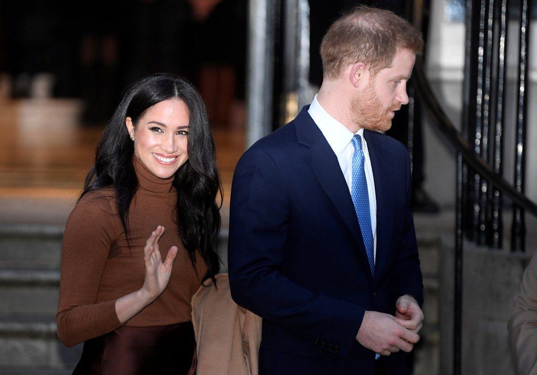 梅根被英國民眾認為是慫恿哈利王子鬧出走的罪魁禍首,形象跌谷底。圖/路透資料照片