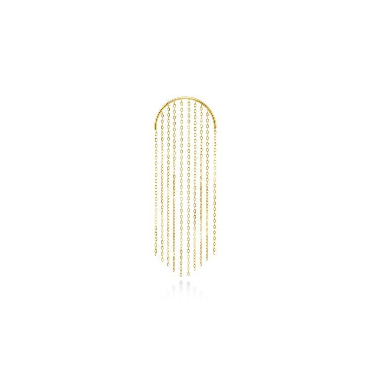 AHKAH le coeur cascade 18K黃金耳環,13,000元。...