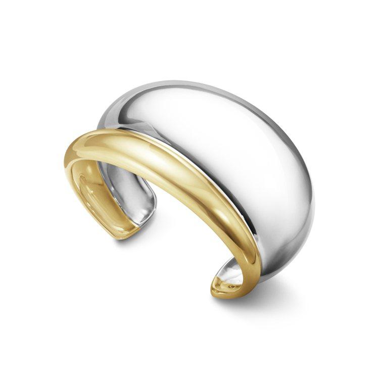 喬治傑生CURVE系列18K金純銀雙色手環,16萬元。圖/喬治傑生提供