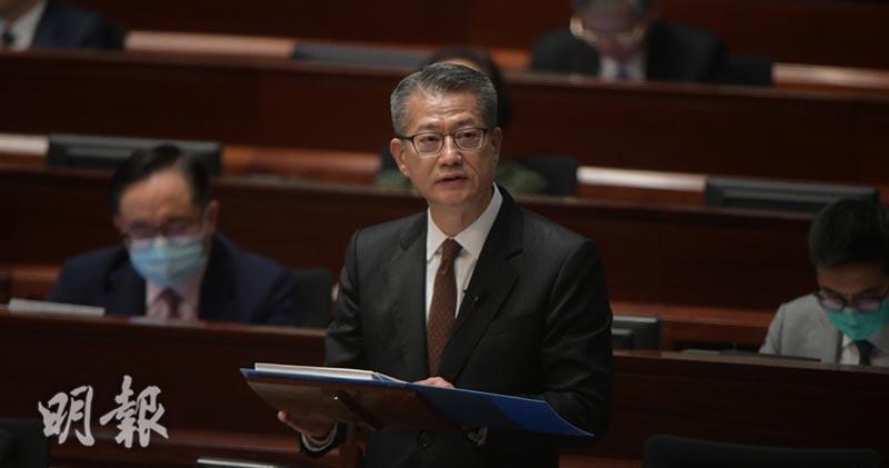 香港財政司長陳茂波。取自明報