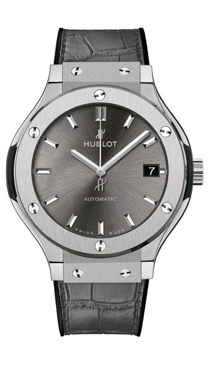 Hublot,經典融合系列競速灰鈦金屬腕表,自動上鍊機芯,鈦金屬,38毫米,時間...