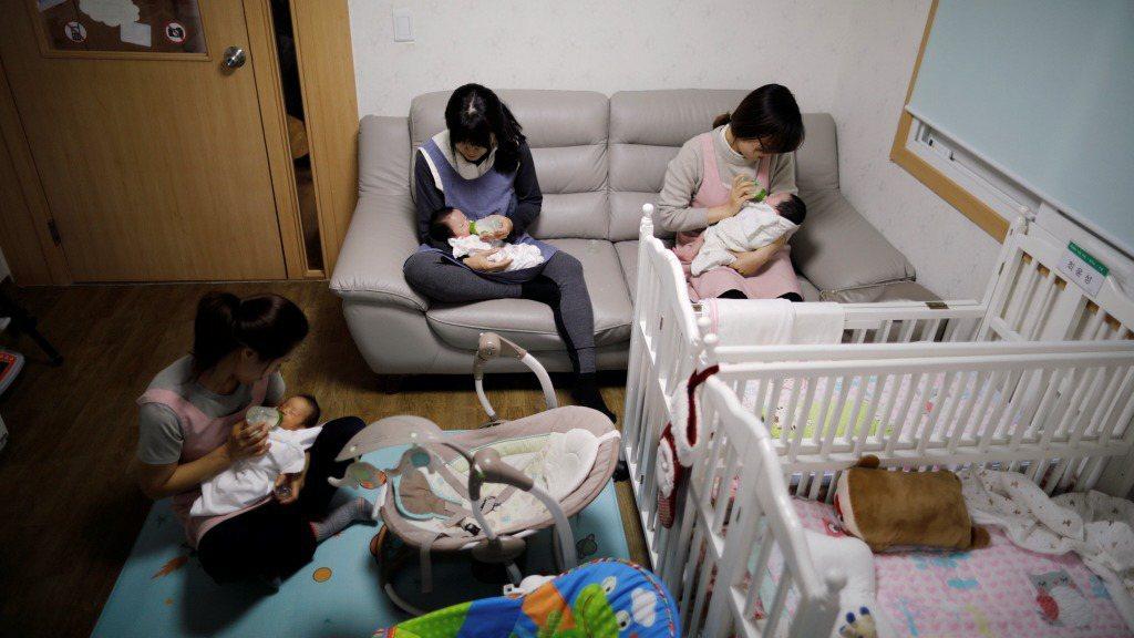 南韓2019年生育率寫下新低。路透。
