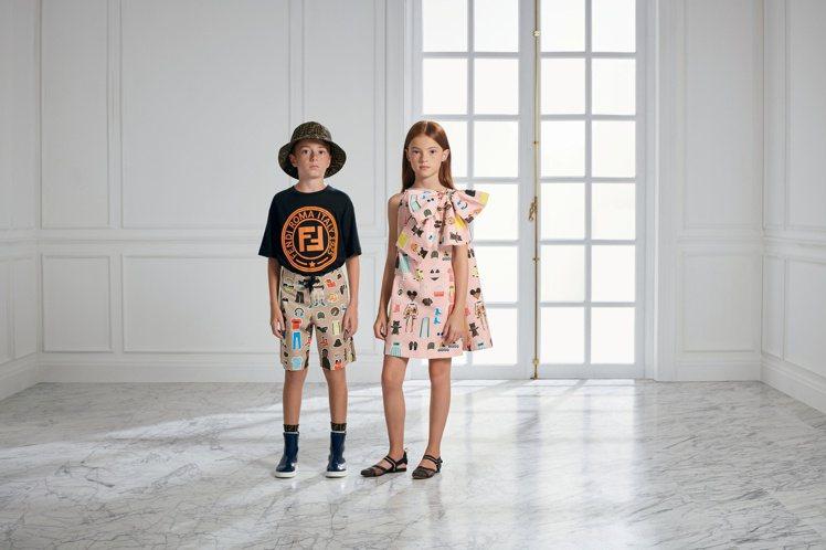 FENDI推出2020春夏童裝系列。圖/FENDI提供