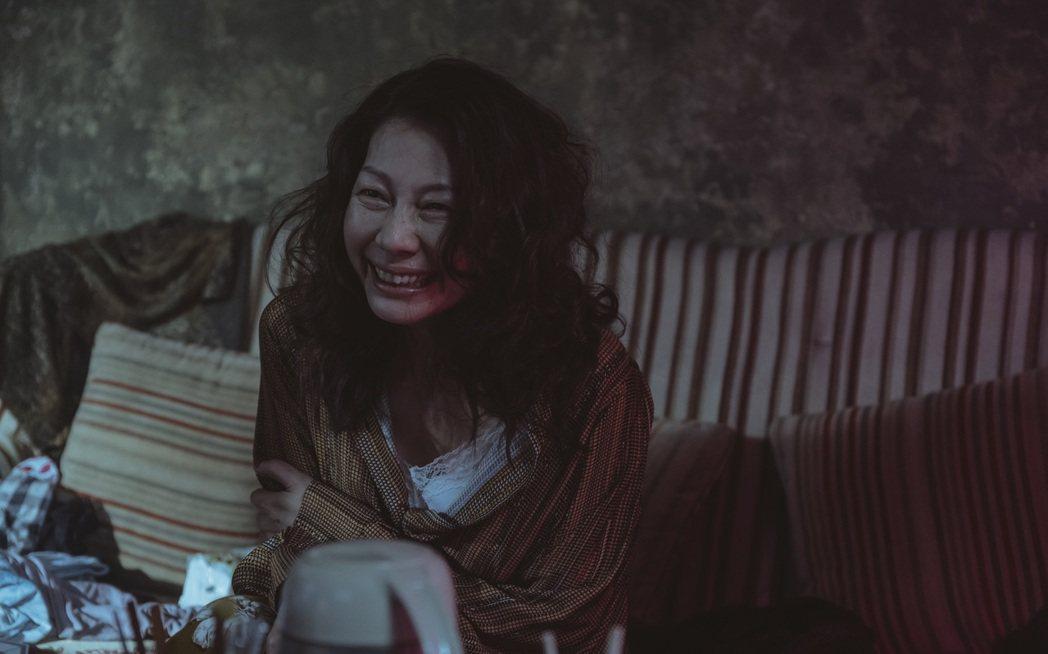 丁寧在「誰是被害者」演出過氣女星,瘋魔演出令人頭皮發麻。圖/Netflix提供