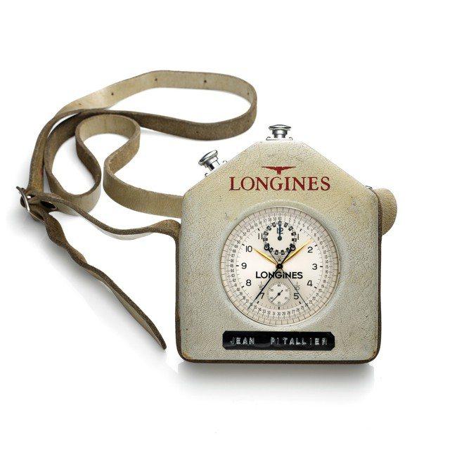 曾為法國單車協會裁判Jean Pitallier用於70年代環法賽的浪琴追針計時...