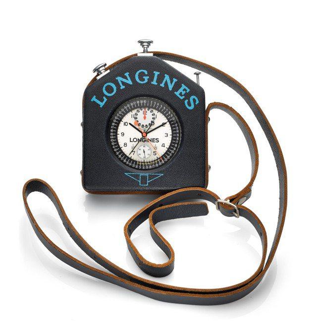 兩枚浪琴追針計時碼表懷表之一,曾為法國單車協會裁判Jean Pitallier用...