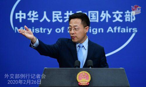 陸外交部發言人趙立堅。圖/取自大陸外交部網站