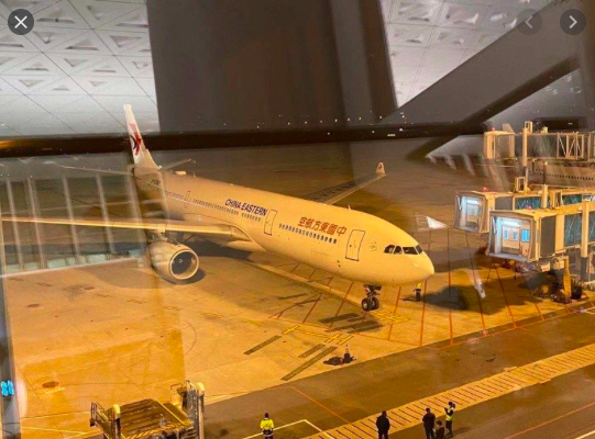 二月三日,大陸東方航空載運了247名滯溜武漢台胞返回桃園機場。(本報資料照片)