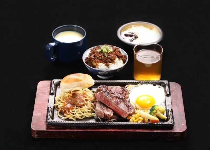 「鉄火牛排」結合進口肉品與無限供應的和牛滷肉飯等附餐,打造出價格親民的牛排餐點。...
