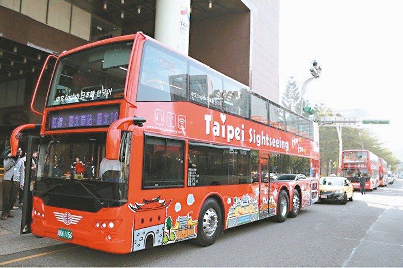 北市雙層觀光巴士今年2月至今的載客率,創3年以來新低紀錄,一天至少有5、6班車是「0人車」。 圖/聯合報系資料照片