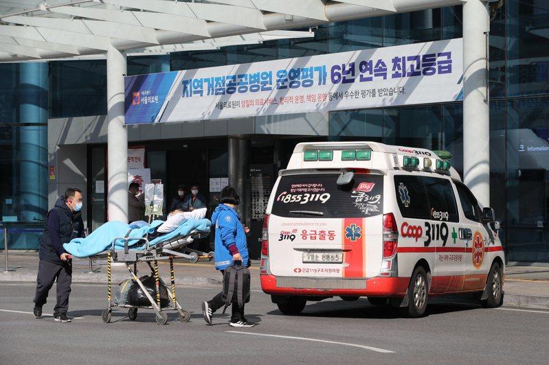 韓國新冠肺炎疫情爆發。圖/歐新社