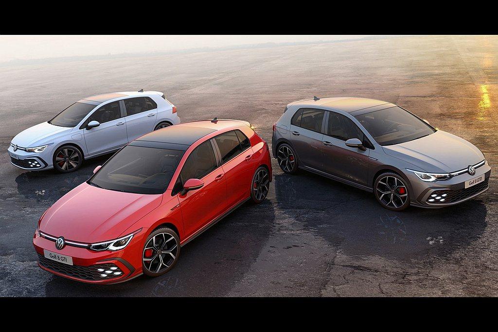 福斯汽車一口氣公開全新Golf GTI、GTD、GTE相關資訊。 圖/Volks...