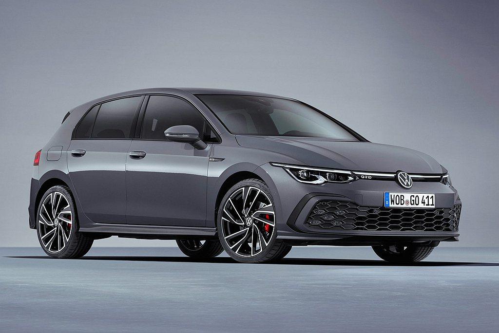 新世代福斯Golf GTD最大馬力來到200ps、峰值扭力40.8kgm,透過「...