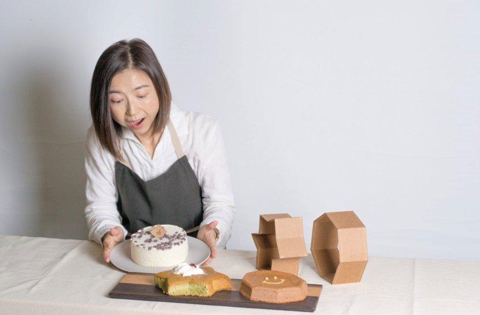 吳沛穎也擔任過烘焙的平面模特兒。 圖/吳沛穎提供