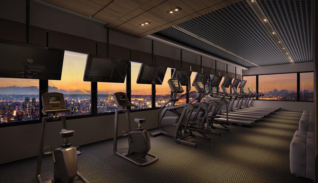 豪宅級百米凌空公設會館 360°無價美景一眼盡收。 欣巴巴事業/提供
