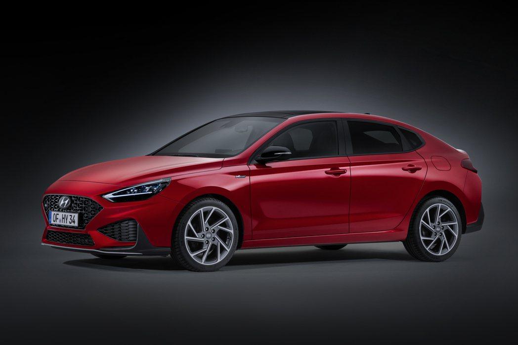 小改款Hyundai i30 Fastback。圖為N Line車型。 摘自Hy...