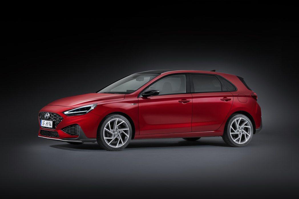 小改款Hyundai i30 Hatchback。圖為N Line車型。 摘自H...