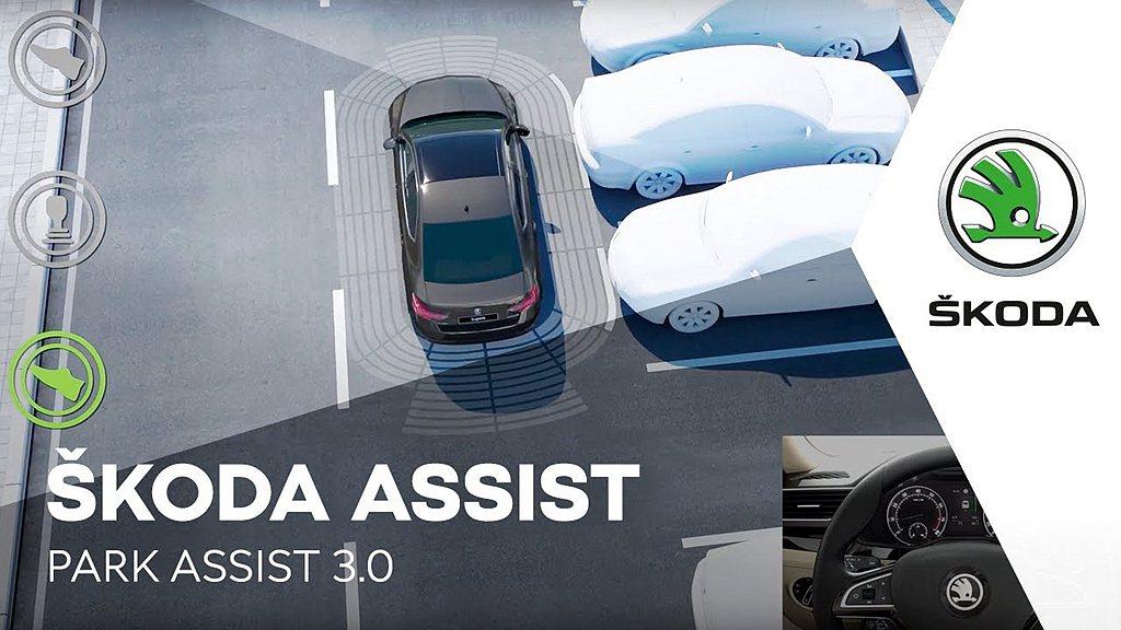 英國Skoda汽車分公司發言人表示透過選配Park Assist自動停車輔助系統...