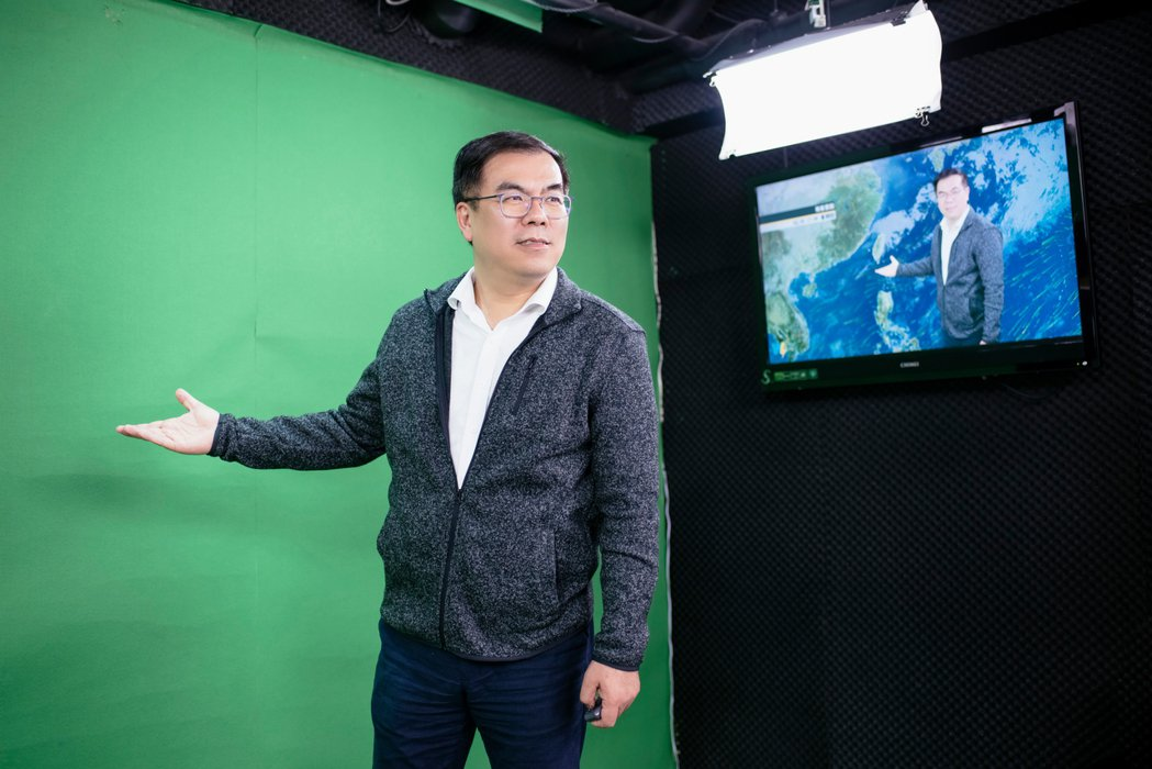 氣象達人彭啟明於2004年成立全台第一間民間氣象公司。 圖/陳軍杉攝影
