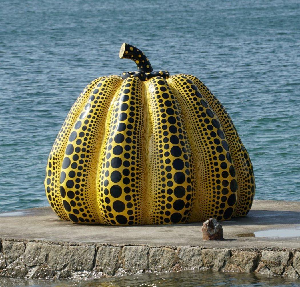 鎮壓之寶 - 草間彌生的黃色大南瓜