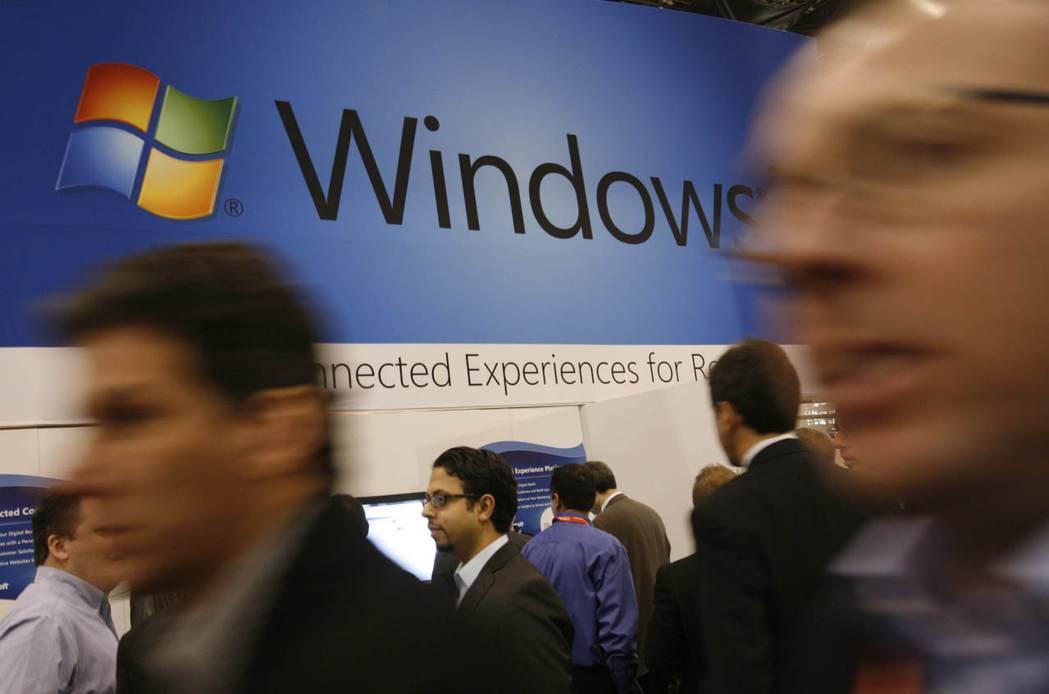 微軟預警,本季Windows與個人電腦部門營收無法達標。  美聯社