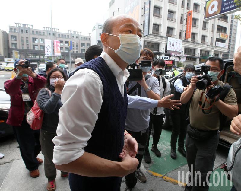 高雄市長韓國瑜今天。聯合報系資料照片/記者劉學聖攝影