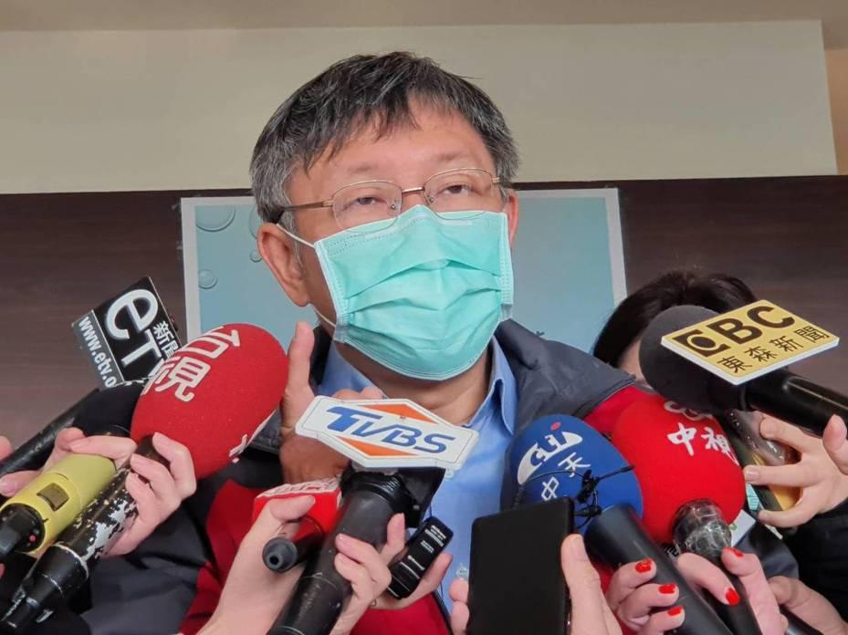 北市府上午宣布,全力配合中央抗疫,將於下午3時,將台北市應變中心提升為一級開設,並由柯文哲市長擔任指揮官。記者楊正海/攝影
