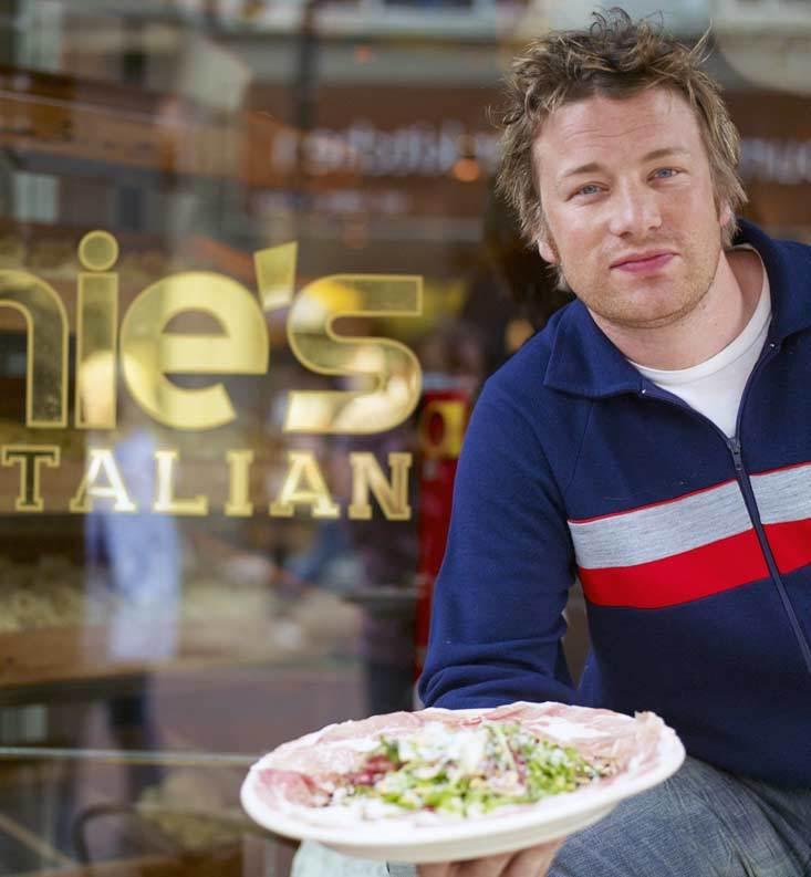 Jamie Oliver有型男主廚支撐。圖/摘自官網