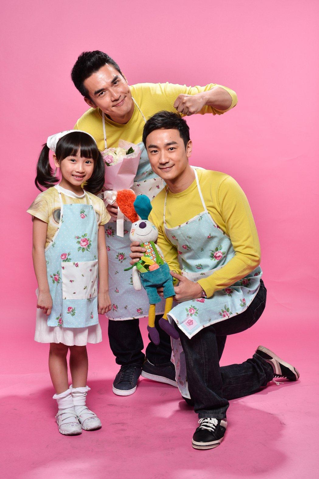 當年演出「兩個爸爸」的小童星樂樂(左)如今已是美少女將參加高中會考  圖/三立提...