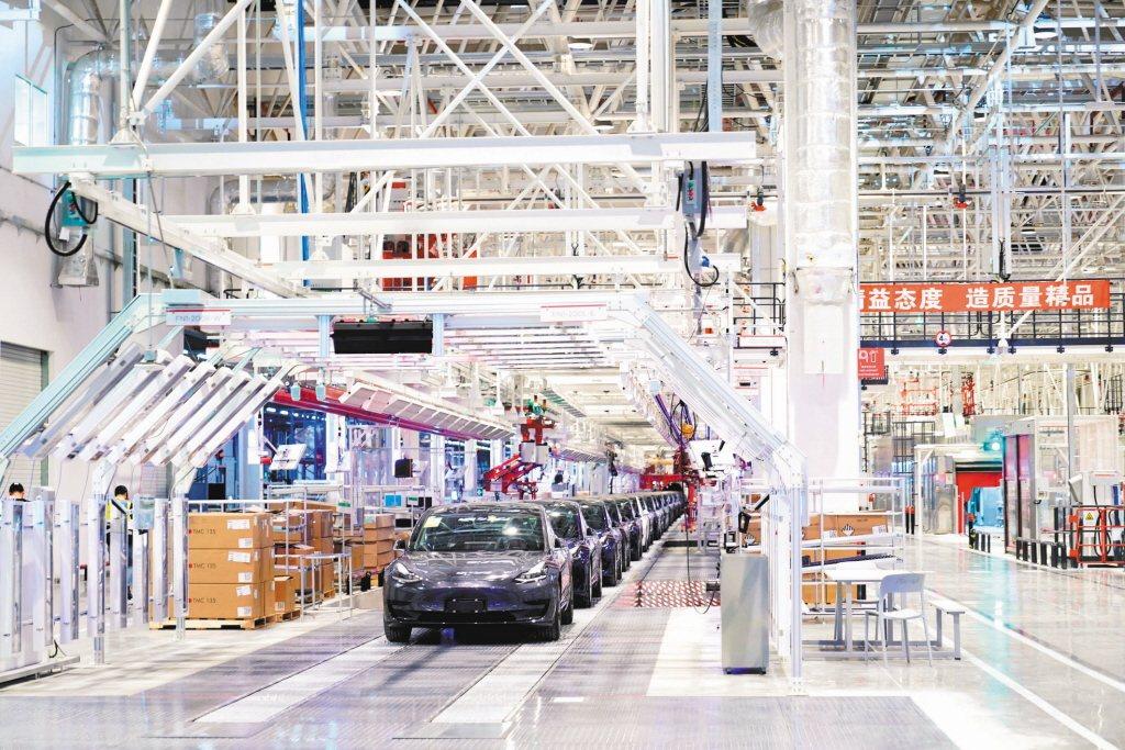 特斯拉上海超級工廠。取自路透,本報資料照片